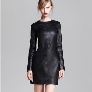 "Marc Jacobs ""Léna"" Lambskin Leather Black Dress"